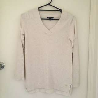 Cream Tommy Hilfiger Knitted Top XS