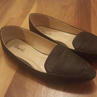 Black Loafer Flats