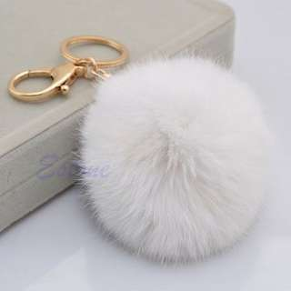 Pom Pom Furry Keyring For Bags Or Keys