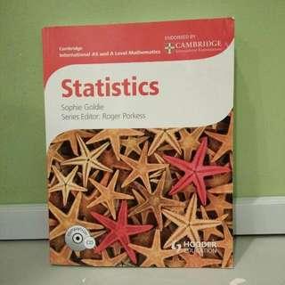 Cambridge A levels Statistics Coursebook/Textbook