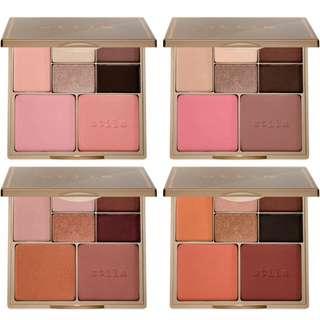 預購 Stila perfect me perfect hue palette 眼影腮紅彩妝盤,贈刷具組 & 唇蜜