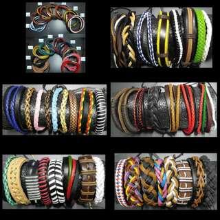 ($50 for 3包平郵)皮革手繩 leather bracelet