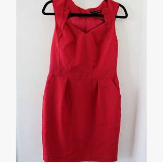 Dorothy Perkins Red fitted dress