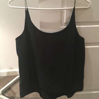 ASOS Low Back Black Singlet