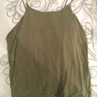 Low Back Khaki Singlet