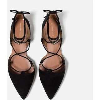 Zara Lace Up Shoes Size 37