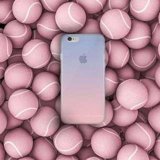 預購 流行漸層粉藍半透明手機殼