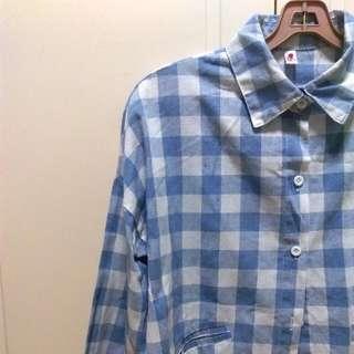 Blue & White Checkered Flannel