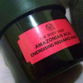 The Body Shop - Amazonian Acai - Energising Radiance Mask + free sample Ethiopian Honey Mask
