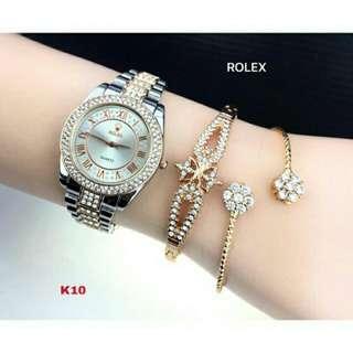 Jam Gelang Set Rolex