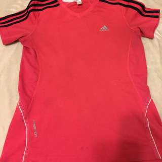 pink & black adidas shirt