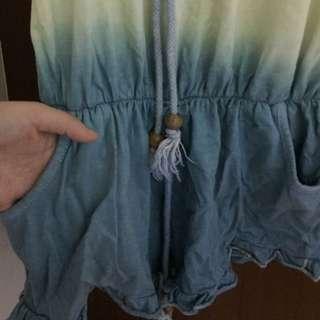 漸層平口連身褲
