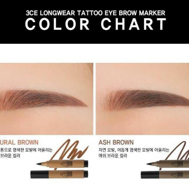 3CE Long Wear Eyebrow Tattoo Marker