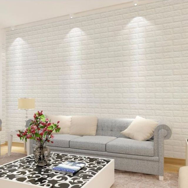 3D Korean Foam Bricks Self-Adhesive Wall Decal / Wall