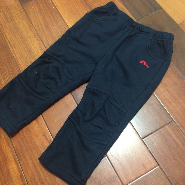 藍色運動風鋪棉長褲