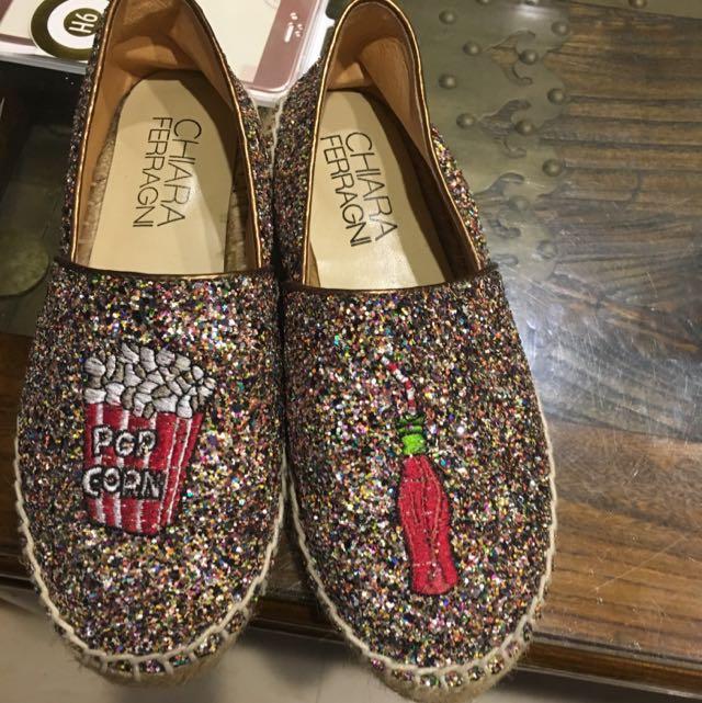 韓國亮片懶人鞋