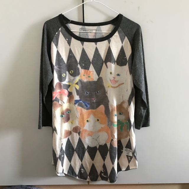 貓咪七分袖上衣