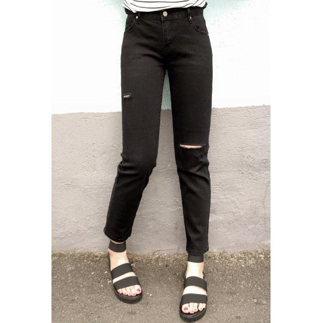 花妮小姐連線顯瘦百搭黑褲