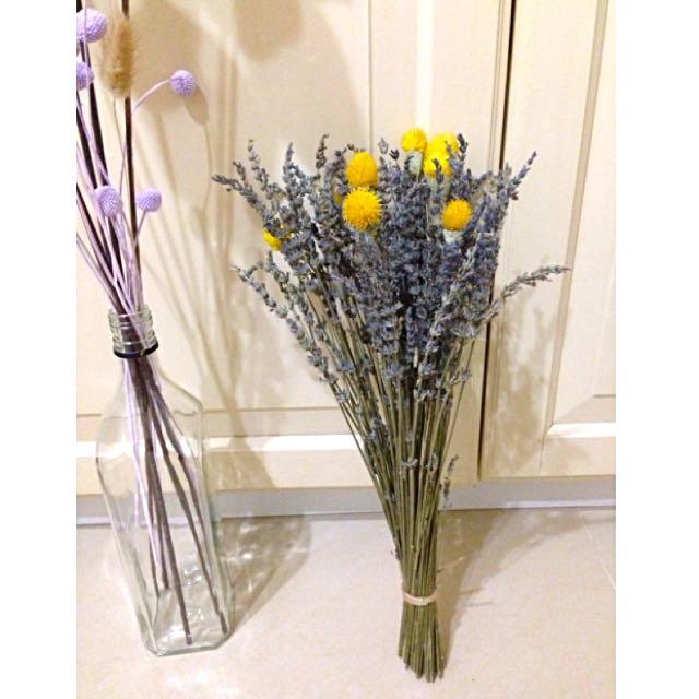 天然薰衣草乾燥花綜合花束*婚禮佈置