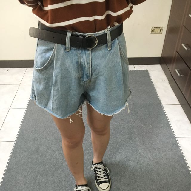 A字復古牛仔短褲