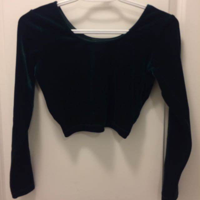 American Apparel - Velvet Crop Top
