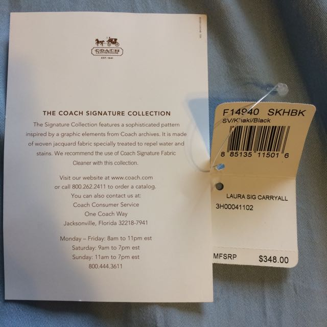 BN Large Coach Laura Signature Carryall