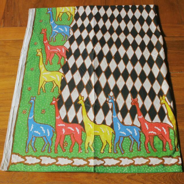 Batik Tulis Sogan Motif Jerapah (Green Series)