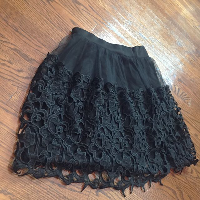 Beautiful Black Lace Skirt