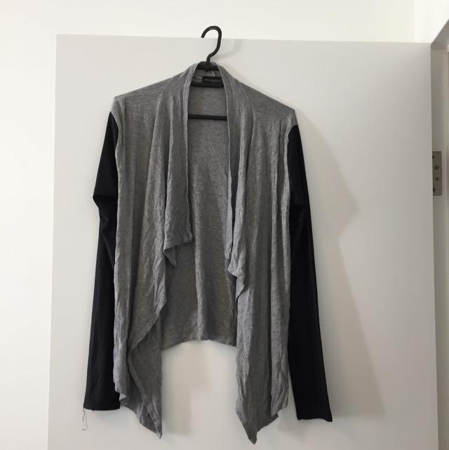 Black And Grey Cardigan Size 10