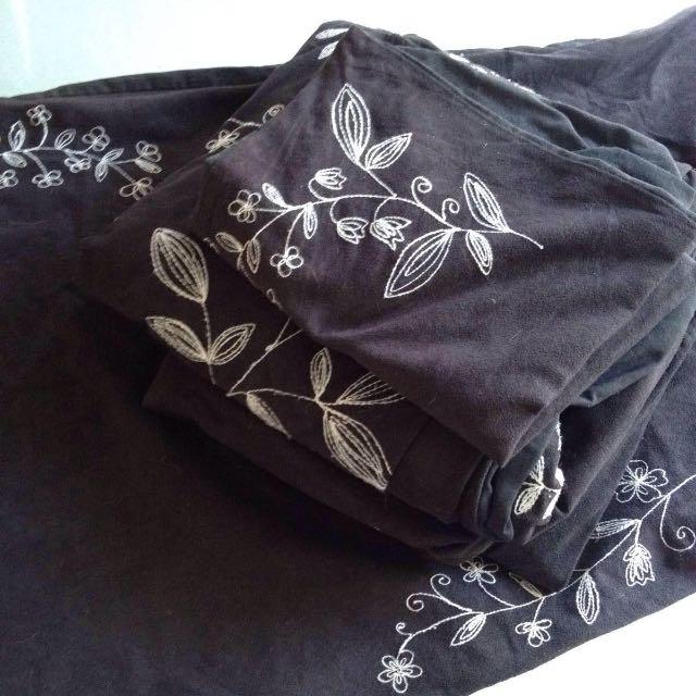 Black Faux Suede Queen Quilt Cover