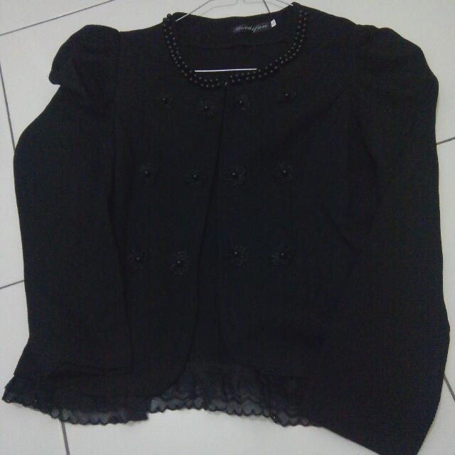 black flower kardigan