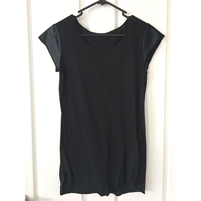 Black Milk Capped Sleeve T-Shirt