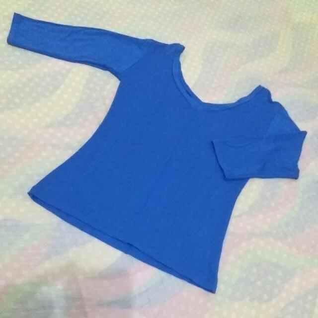 Blue Bodyfit Shirt