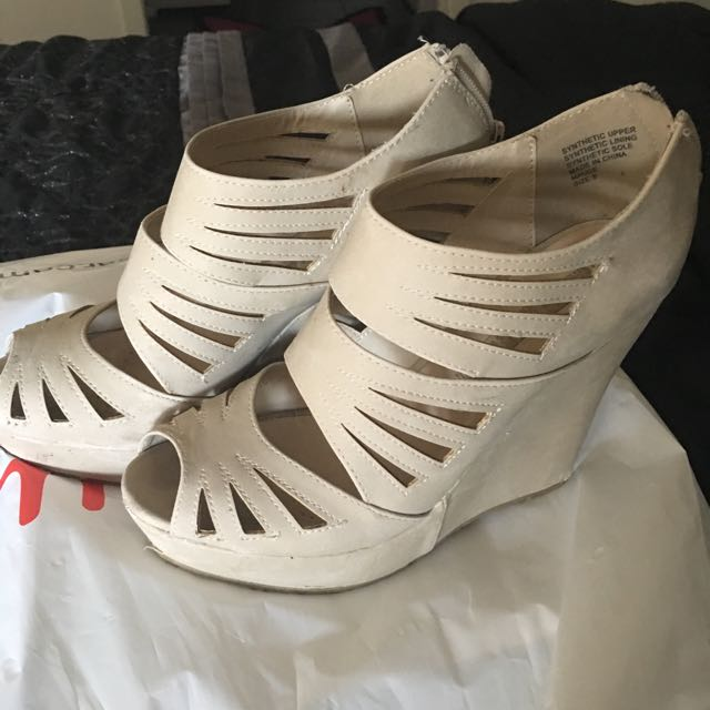 Bone Coloured Wedges