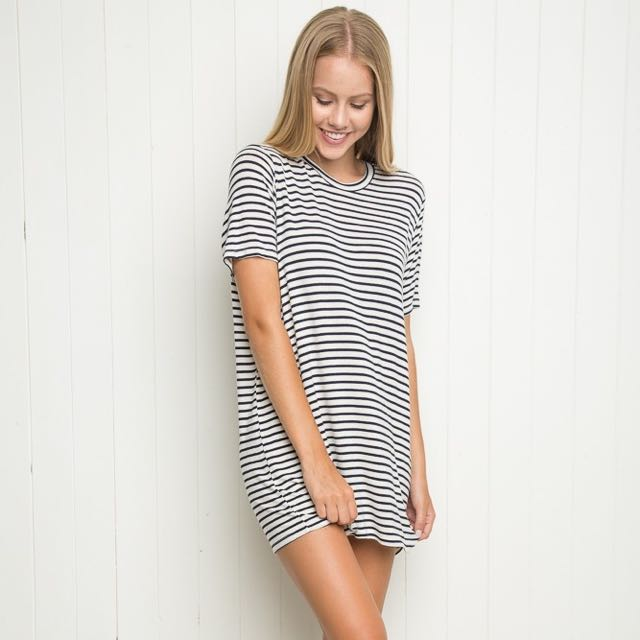 Brandy Melville Stripe Tshirt Dress