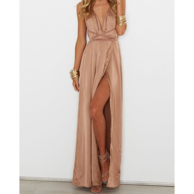 Bronze Small Akela Whitefox Boutique Maxi Dress