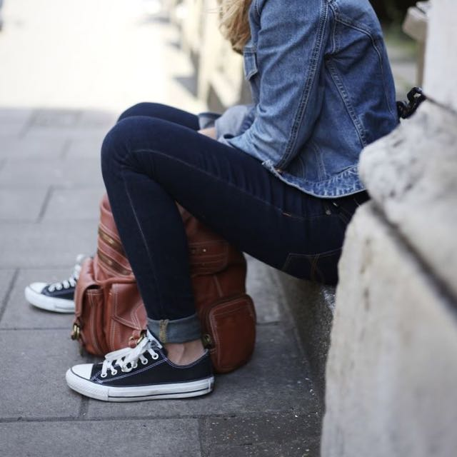 Converse Black And White Low Tops