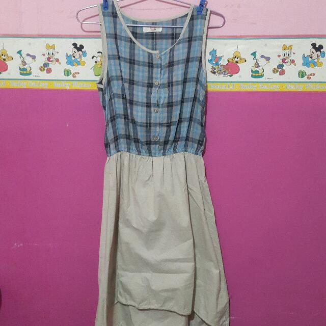 Dress Kotak - Kotak Biru