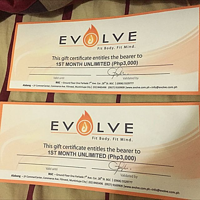 Evolve Yoga Gift Certificates( Alabang and BGC!)