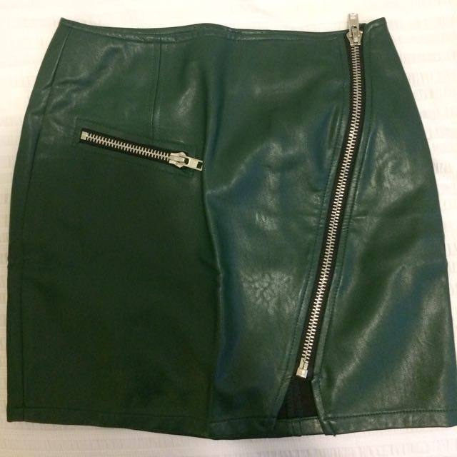 Faux Leather Skirt - Nastygal
