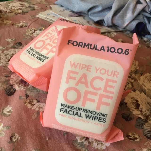 Formula 10.0.6 Wipe Your Face Off Make-up Removing Wipes