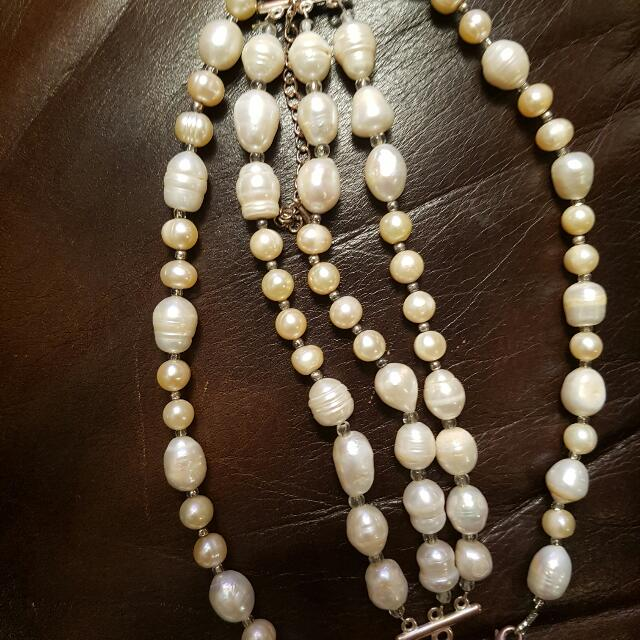 Freshwater pearl Necklace And Bracelet