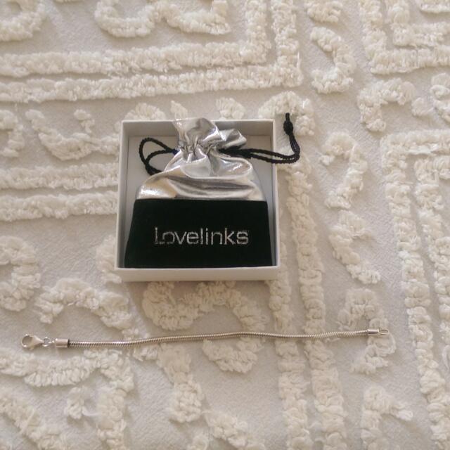 "Genuine ""Lovelinks"" Sterling Silver 19cm Bracelet"