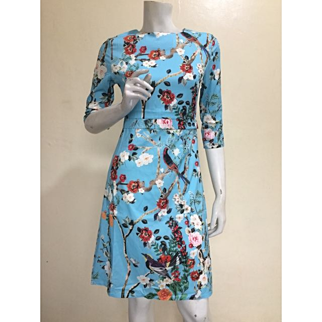Gucci-inspired Bird & Flower Print Dress