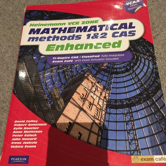 Heinemann Vce Zone Mathematical Methods 1 & 2 Cas Enhanced by Kylie Boucher, Da…