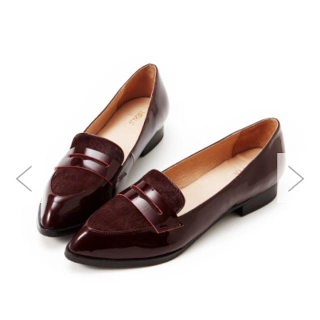 Herls 全真皮馬毛樂福鞋