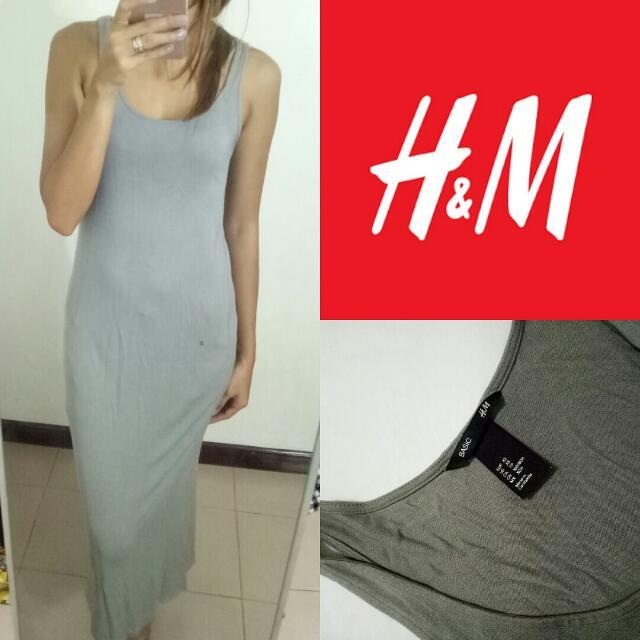 HM Grey Maxi Dress