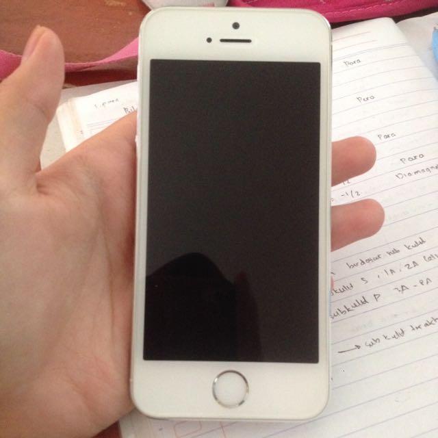 Reprice!!!!  Iphone 5s 16gb Silver Ex Ibox