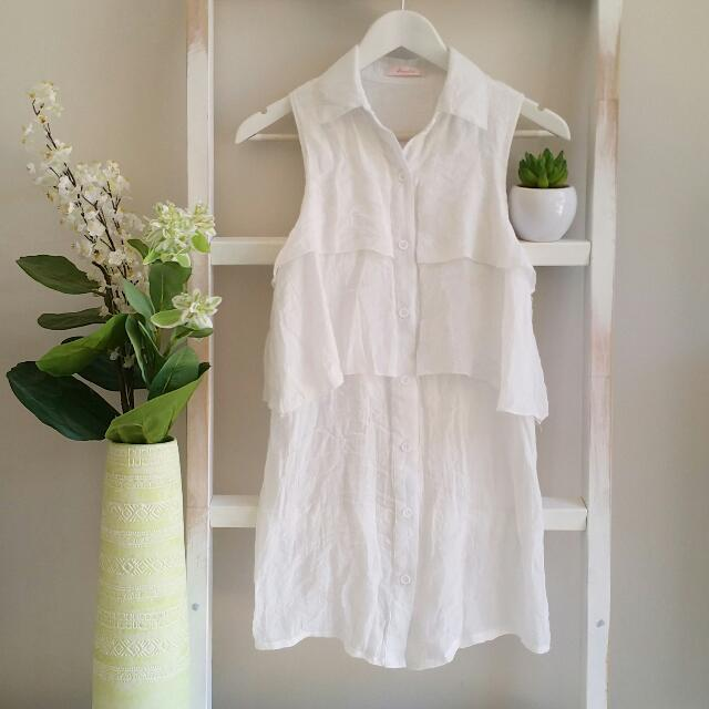 Ivory Shirt Dress | Size 8