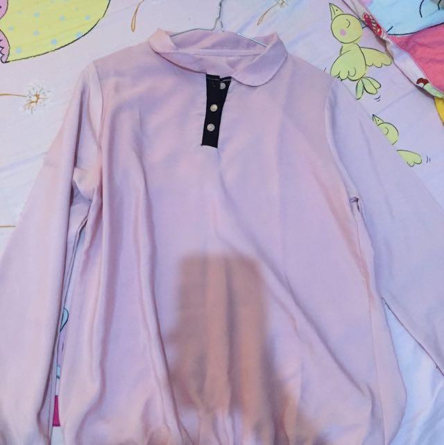 kemeja pink blouse